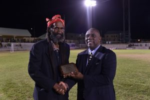 SKNFA honours Mr. Bernel Grant