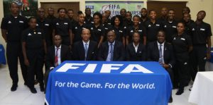 SKNFA Referees participate in Elite Training Course