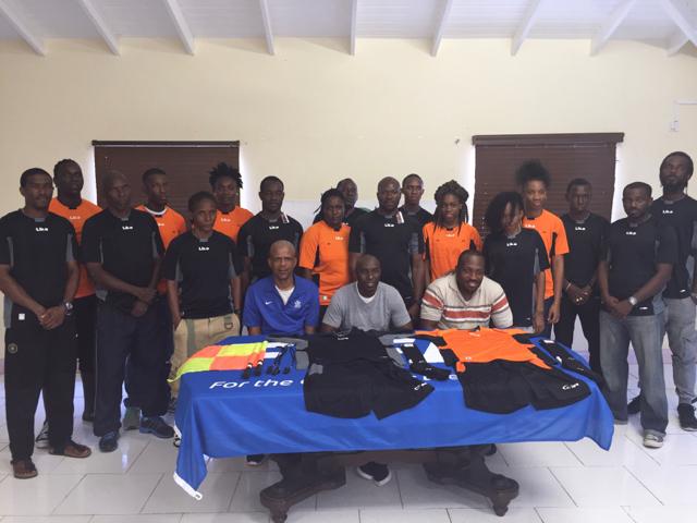 SKNFA presents referee uniforms, calls for partnership