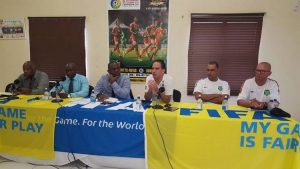 Team SKN in challenging Caribbean Cup match against Suriname